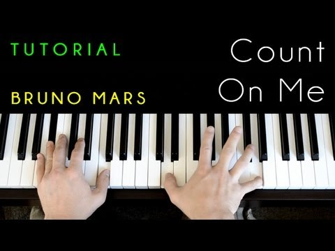 Bruno Mars Count On Me Piano Tutorial Cover Youtube