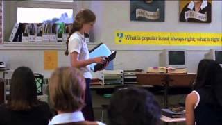 Kat reading her poem - 10 Things I Hate About You