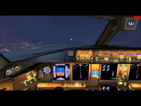 FSX : Landing Kaohsiung Airport / ILS Auto-land (Opensky 777)