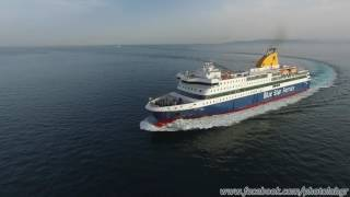 Aerial (drone) video - Blue Star Patmos arriing at Piraeus (01/06/2016(F/B Blue Star Patmos filmed from drone during its arrival at the port of Piraeus on June 1st 2016. Shot with DJI Phantom 3 Professional., 2016-06-22T13:22:22.000Z)