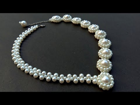 Beautiful Pearl Necklace Making//At Home// Useful & Easy