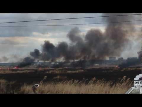 NJ Meadowlands Brush Fire
