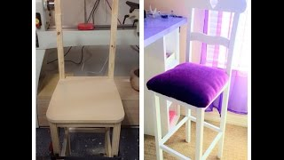 Tall bar chair || building a chair for my wife