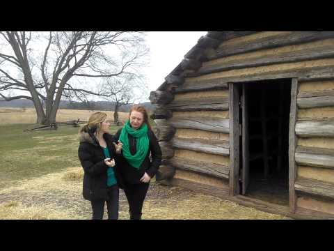 Valley forge log cabin tour