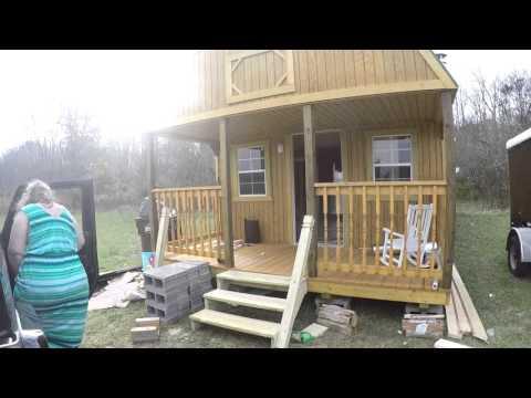 12x32 Wrap Around Lofted Barn Cabin Doovi