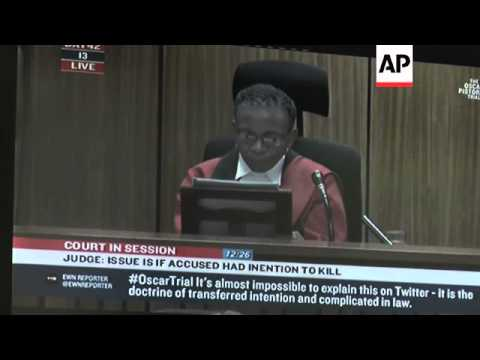 The judge in Oscar Pistorius' trial adjourned court until Friday before giving a final verdict. She