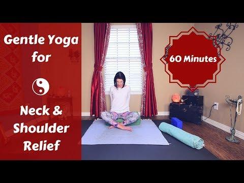 Gentle Yoga for Neck & Shoulders {60 mins} | Restorative Yoga Neck & Shoulder Pain & Tension Relief