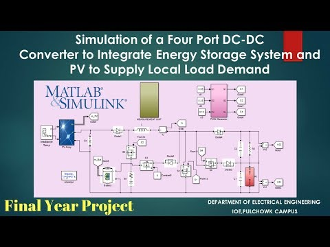 4 Port DC to DC Converter project using MATLAB/Simulink