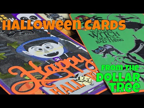 Dollar Tree DIY Halloween Cards from Stickers & Halloween Bags!!!  **BY REQUEST** Halloween Cards!