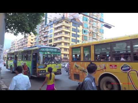 巴士在陽朔 Buses in Yangon, Myanmar (Burma) 2016