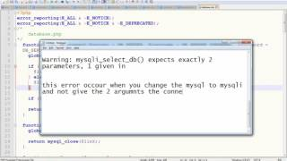 Warning: mysqli_select_db() expects exactly 2 parameters, 1 given in