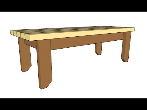 2x4 Bench Plans Youtube