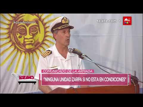 El comunicado oficial de la armada argentina sobre el submarino ARA San Juan - Cortá por Lozano