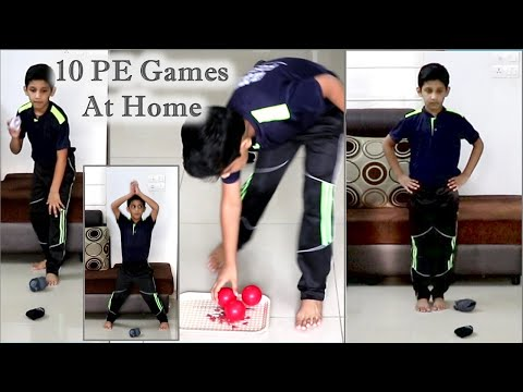10 PE games | Fun physical education game | indoor games for kids | kids games | PE at home