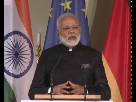 PM Modi at the Indo-German Business Summit in Berlin, Germany.......
