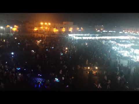 Jemaa el-Fnaa at night Marrakesh Morocco