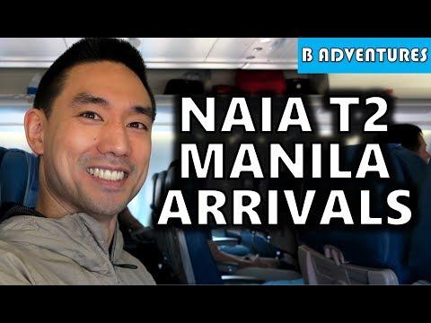 NAIA T2 Arrivals Manila Airport Philippines S4, Vlog 1