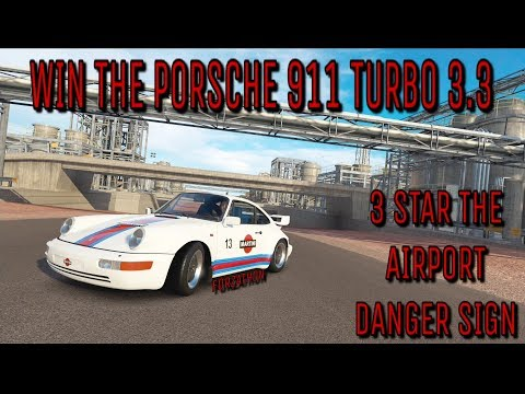 Forza Horizon 3 - FORZATHON - Win the Porsche 911 Turbo 3.3 - 3 Stars on Airport Danger Sign