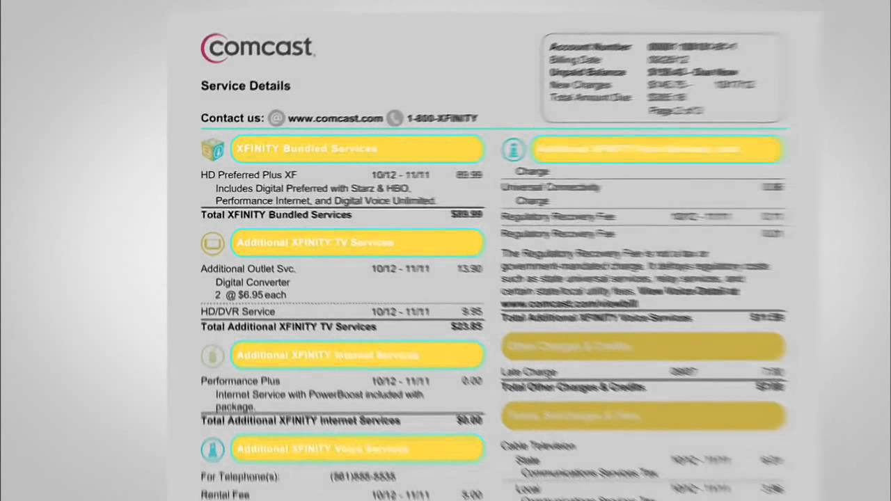 How To Understand Your XFINITY Bill