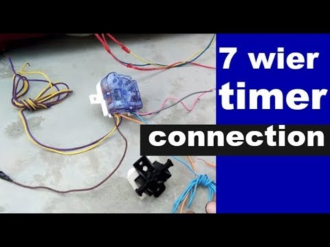 washing machine repair for 7 wier timer connection 7 तार वाले