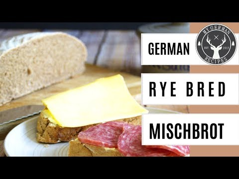 Authentic German Sourdough Rye Bread (Mischbrot) - easy ✪ MyGerman.Recipes