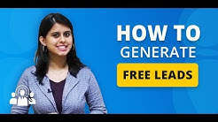 How to Generate Free Leads for Insurance | Loans | Property | Mutual Funds - LeadMarket