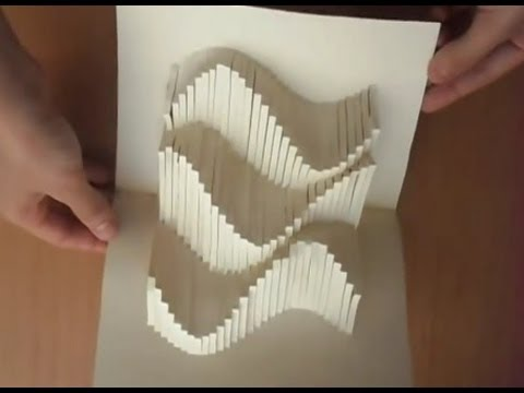 15 Pop Up Amazing Waves Card Tutorial Origamic Architecture