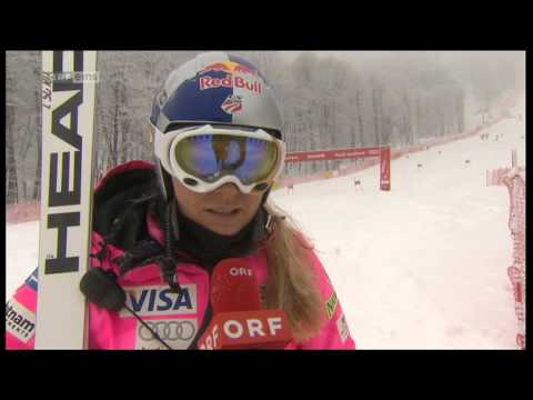 Lindsey Vonn Sochi SC Interview before the race