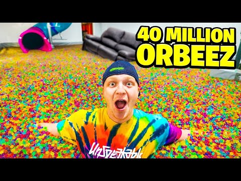 FILLING MY ENTIRE HOUSE WITH ORBEEZ! - Unspeakable