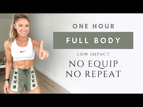 1 Hour FULL BODY WORKOUT at Home | No Repeat and Low Impact