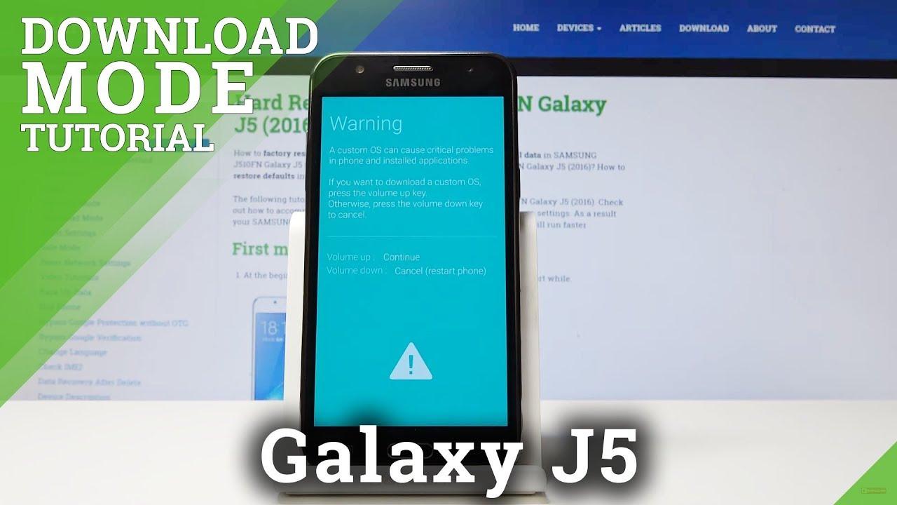 Download Mode SAMSUNG J500F Galaxy J5 - HardReset info