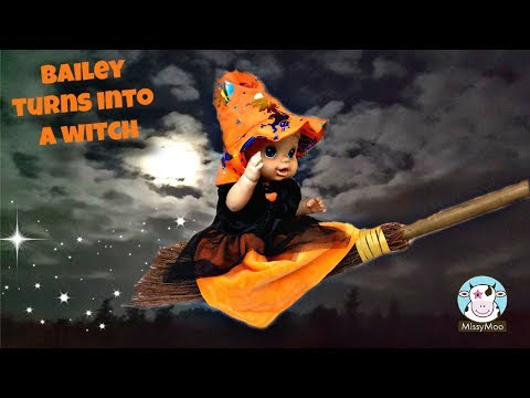 Baby Alive Halloween Video Bailey is a witch