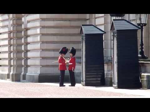 Queen's Guard gets uniform fixed by superior