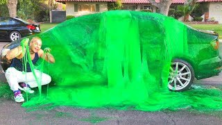 SLIME PRANK ON BROTHER!!