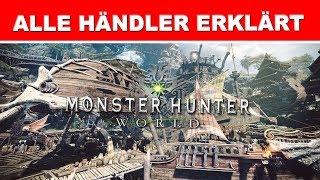 Monster Hunter ► Alle Händler erklärt | VERSORGUNGSLAGER • RESSOURCENZENTRALE • VERSCHMELZITA