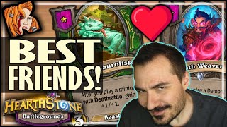 SAUROLISK + WEAVER = BFFs! - Hearthstone Battlegrounds