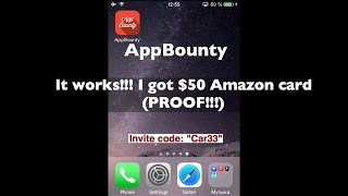 AppBounty - How I got $50 Amazon gift card. My invite code