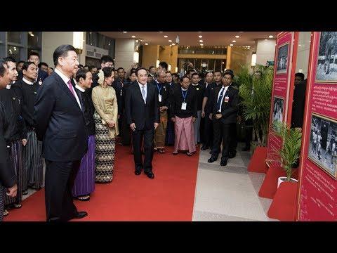 President Xi in Myanmar