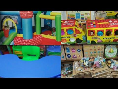 Wholesale Market Of Kids And Play School // खिलौने की होलसेल मार्केट झंडेवालान,दिल्ली