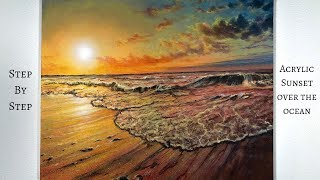 Ocean Sunset STEP by STEP Acrylic Painting (ColorByFeliks).mp3