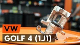 Kaip pakeisti Stabdžių trinkelių komplektas VW GOLF IV (1J1) - vaizdo vadovas