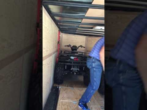 Loading Four Quads into a 16ft Trailer Video #2