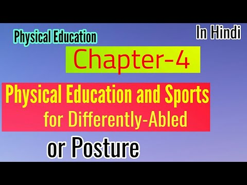 Physical Education And Sports For Differently Abled Class