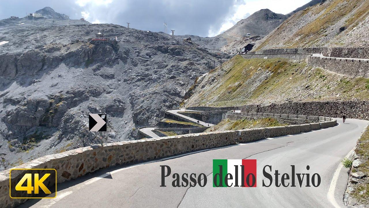 Overlooking the spectacular Passo dello Stelvio in Italy