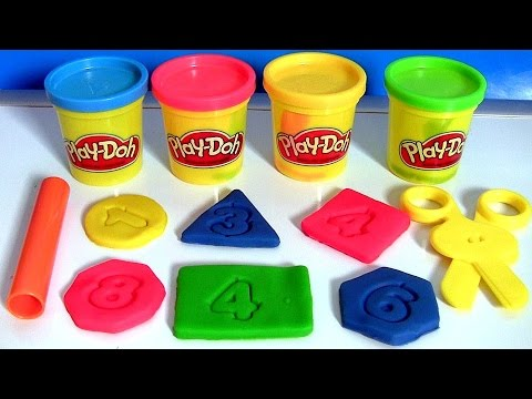 Thumbnail: Play Doh Chalkboard Back To School Playset Learn Shapes & Numbers 123 with PlayDough 2015