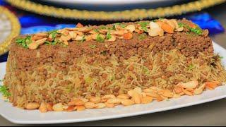 عدس بني بالارز البسمتي واللحم المفروم | سالي فؤاد