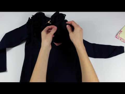 Блузка на девочку с рюшами и длинным руковом с Алиэкспресс