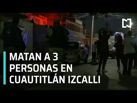 Asesinan a tres