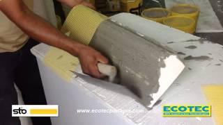 Instalacion de molduras de concreto celular aligerado by for Hormigon celular casero