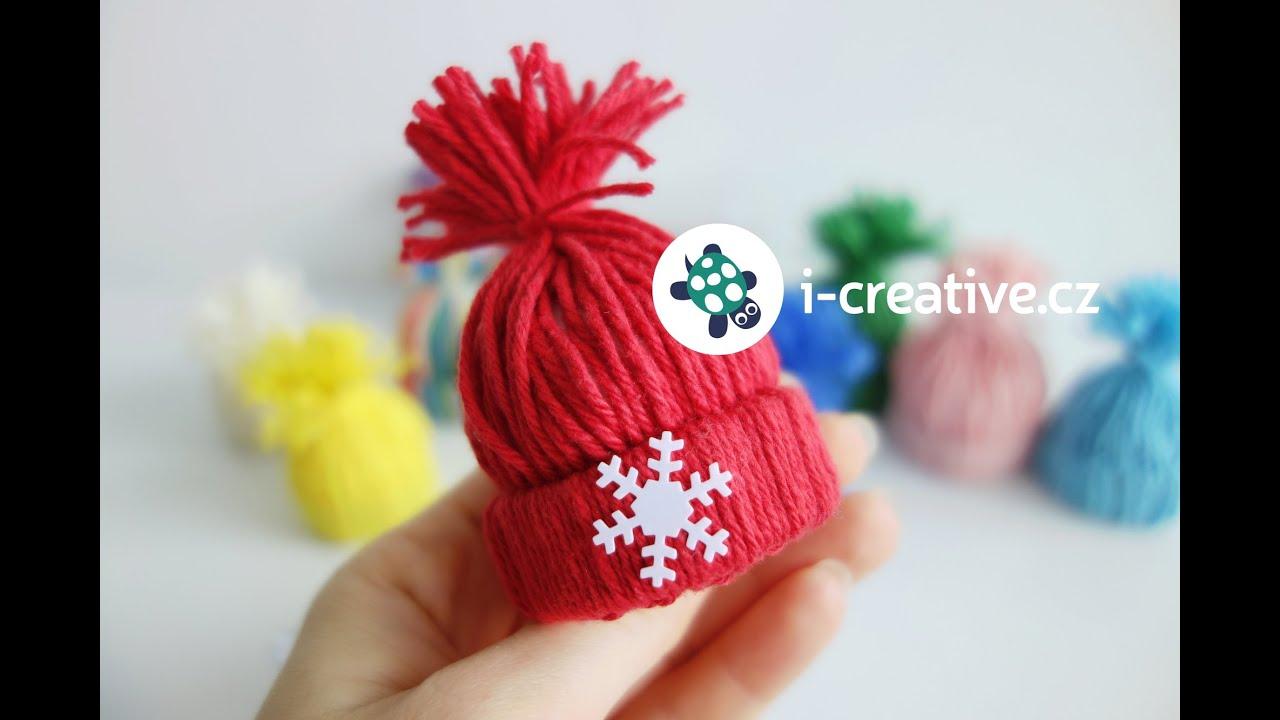 0957f9427 Návod jak vyrobit mini dekorační čepičky - YouTube